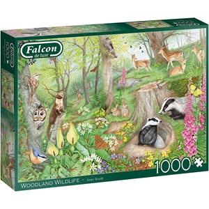 "Falcon (11322) - Anne Searle: ""Woodland Wildlife"" - 1000 pièces"
