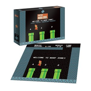 """USAopoly (PZ005-482) - """"Super Mario 1-2 Welcome to Warp Level"""" - 1000 pièces"""