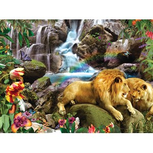 "SunsOut (48466) - Alixandra Mullins: ""Love Lion Waterfall"" - 1000 pièces"