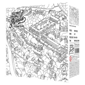"""Kylskåpspoesi (00549) - """"City Sketch"""" - 1000 pièces"""