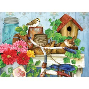 """SunsOut (16097) - Jane Maday: """"The Old Garden Shed"""" - 500 pièces"""