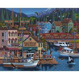 "Dowdle Folk Art (00245) - Eric Dowdle: ""Ketchikan, Alaska"" - 500 pièces"