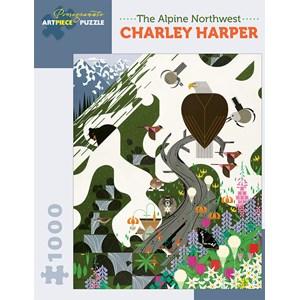 "Pomegranate (AA927) - Charley Harper: ""The Alpine Northwest"" - 1000 pièces"
