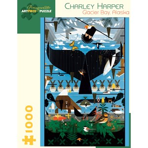 "Pomegranate (AA639) - Charley Harper: ""Glacier Bay, Alaska"" - 1000 pièces"