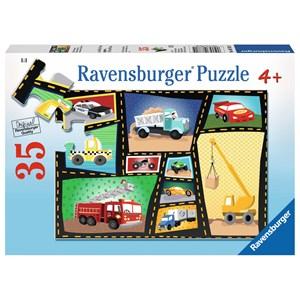 """Ravensburger (08781) - Karen Rossi: """"Tires & Engines"""" - 35 pièces"""