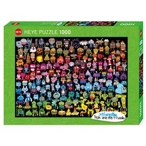 "Heye (29786) - Jon Burgerman: ""Doodle Rainbow"" - 1000 pièces"