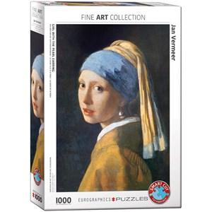"""Eurographics (6000-5158) - Johannes Vermeer: """"La Jeune Fille à la Perle, 1665"""" - 1000 pièces"""