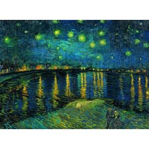 """Clementoni (39344) - Vincent van Gogh: """"Nuit étoilée sur le Rhône"""" - 1000 pièces"""
