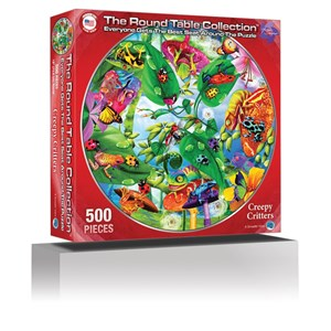 """A Broader View (372) - Michael Searle: """"Creepy Critters (Round Table Puzzle)"""" - 500 pièces"""