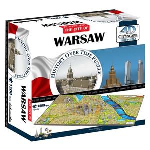 """4D Cityscape (40064) - """"Warsaw, Poland"""" - 1200 pièces"""