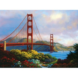 """SunsOut (48505) - Charles White: """"Morning at the Golden Gate"""" - 1000 pièces"""