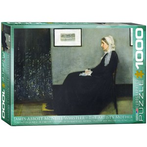"""Eurographics (6000-0749) - James Whistler: """"The Artist's Mother"""" - 1000 pièces"""