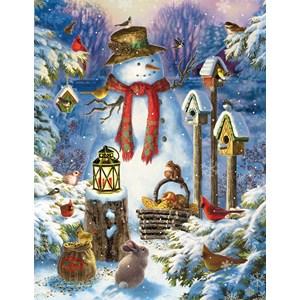 """SunsOut (59794) - Liz Goodrick-Dillon: """"Snowman in the Wild"""" - 1000 pièces"""
