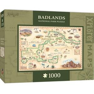 """MasterPieces (71764) - """"Badlands Map"""" - 1000 pièces"""
