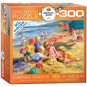 """Eurographics (8300-0449) - Corinne Hartley: """"Amusement au soleil"""" - 300 pièces"""