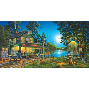 """SunsOut (51310) - Geno Peoples: """"Dixie Hollow General Store"""" - 1000 pièces"""