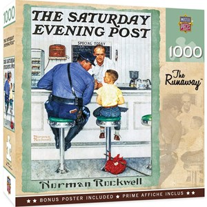"""MasterPieces (71408) - Norman Rockwell: """"The Runaway, The Saturday Evening Post"""" - 1000 pièces"""