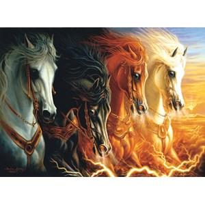 "SunsOut (68420) - Sharlene Lindskog-Osorio: ""Four Horses of the Apocalypse"" - 1500 pièces"