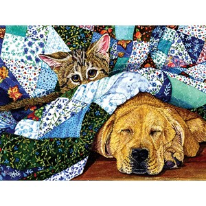 """SunsOut (52387) - Jeanette Fournier: """"Quilted Comfort"""" - 500 pièces"""