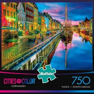 "Buffalo Games (17114) - Aimee Stewart: ""Copenhagen (Cities in Color)"" - 750 pièces"