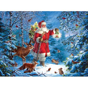 "SunsOut (59770) - Liz Goodrick-Dillon: ""Wilderness Santa"" - 1000 pièces"