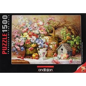 """Anatolian (4502) - Barbara Mock: """"Garden Medley"""" - 1500 pièces"""