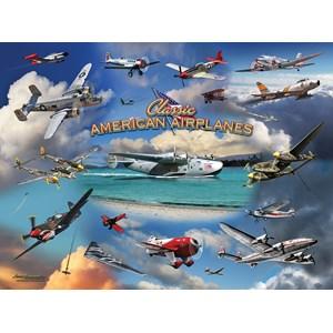 """SunsOut (24526) - Larry Grossman: """"Classic American Planes"""" - 1000 pièces"""