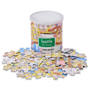 "Geo Toys (GEO 236) - ""City Magnetic Puzzle Seattle"" - 100 pièces"