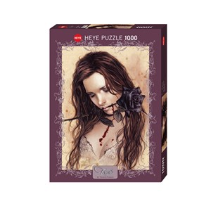 "Heye (29430) - Victoria Francés: ""Dark Rose"" - 1000 pièces"
