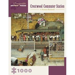 """Pomegranate (AA908) - Norman Rockwell: """"Crestwood Commuter Station"""" - 1000 pièces"""