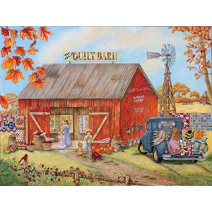 "SunsOut (52881) - Kay Lamb Shannon: ""The Quilt Barn"" - 500 pièces"