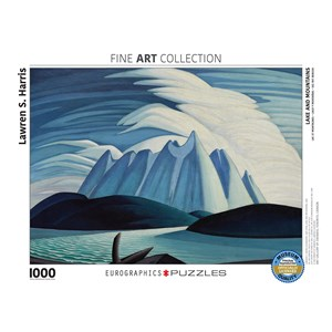 """Eurographics (6000-0924) - Lawren S. Harris: """"Lake and Mountains"""" - 1000 pièces"""