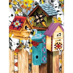 """SunsOut (12554) - Ashley Davis: """"Fall Birdhouses"""" - 1000 pièces"""