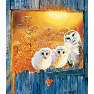 """SunsOut (36994) - Pollyanna Pickering: """"Owls in the Window"""" - 550 pièces"""