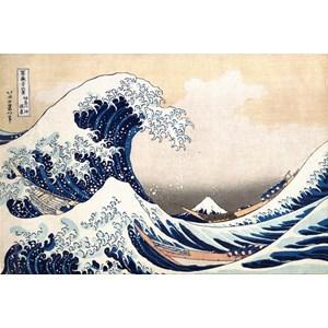 """Piatnik (569845) - Hokusai: """"La Grande Vague de Kanagawa"""" - 1000 pièces"""