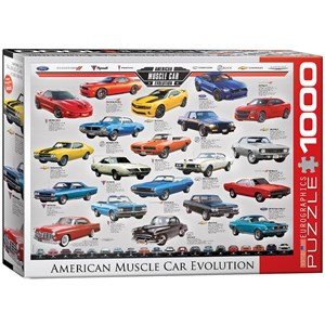 """Eurographics (6000-0682) - """"American Muscle Car Evolution"""" - 1000 pièces"""