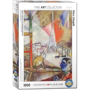 """Eurographics (6000-0853) - Marc Chagall: """"Paris par la Fenêtre"""" - 1000 pièces"""