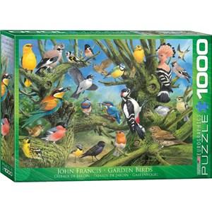 """Eurographics (6000-0967) - John Francis: """"Garden Birds"""" - 1000 pièces"""