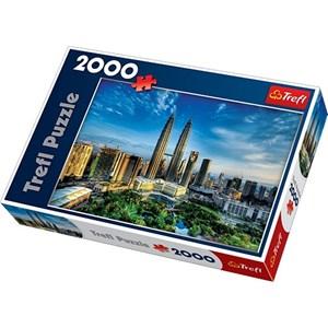 "Trefl (270754) - David Cheong: ""Petronas Twin Towers, Malaysia"" - 2000 pièces"