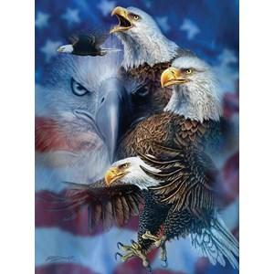 """SunsOut (46530) - Steven Michael Gardner: """"Patriotic Eagles"""" - 1000 pièces"""