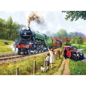"""SunsOut (13792) - Kevin Walsh: """"Watching the Trains"""" - 1000 pièces"""