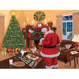 """SunsOut (45865) - Higgins Bond: """"Santa Solves the Puzzle"""" - 1000 pièces"""