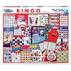 "White Mountain (1087PZ) - Charlie Girard: ""Bingo"" - 1000 pièces"