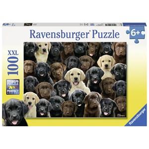 "Ravensburger (10971) - Greg Cuddiford: ""Labradors"" - 100 pièces"