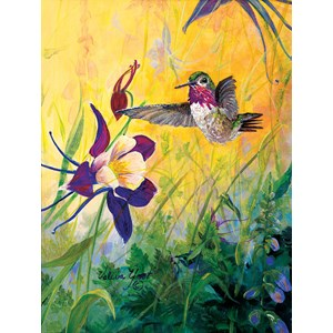 """SunsOut (55102) - Valeria Yost: """"Visitor to My Garden"""" - 300 pièces"""