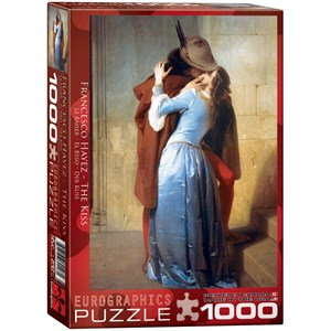 """Eurographics (6000-0148) - Francesco Hayez: """"Le baiser"""" - 1000 pièces"""
