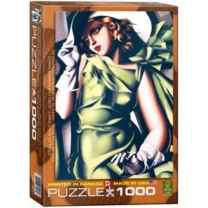 "Eurographics (6000-1058) - Tamara de Lempicka: ""Jeune Fille en Vert"" - 1000 pièces"