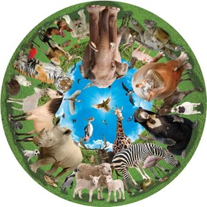 """A Broader View (363) - """"Animal Arena (Round Table Puzzle)"""" - 500 pièces"""