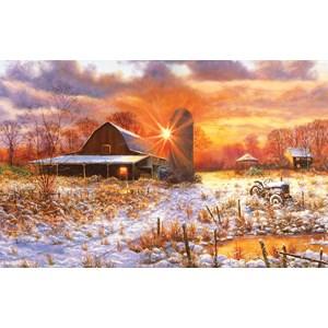 "SunsOut (44223) - Bill Makinson: ""Snow Barn"" - 550 pièces"