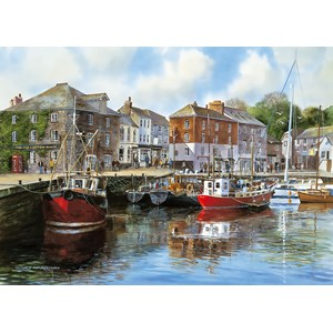 """Gibsons (G476) - Terry Harrison: """"Padstow Harbour"""" - 1000 pièces"""